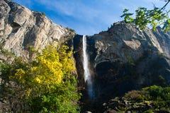 Cascata nella sosta nazionale del Yosemite Fotografie Stock