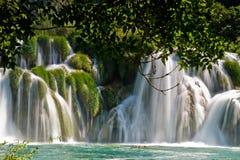 Cascata nella sosta nazionale di Krka nel Croatia Immagine Stock
