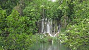 Cascata nella sosta nazionale di Plitvice archivi video