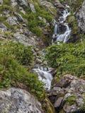 Cascata nelle montagne Immagini Stock Libere da Diritti