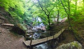 Cascata nelle montagne della Crimea Immagini Stock