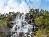 Cascata in Norvegia Fotografie Stock