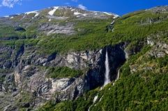 Cascata, Norvegia Fotografia Stock