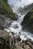 Cascata Norvegia di Latefossen Immagine Stock