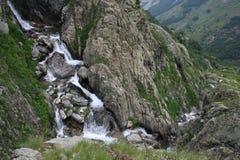 Cascata Parco Naturale delle Alpi Marittime (25 luglio 2014) Arkivbilder