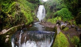 Cascata Peguche Otavalo, Ecuador Fotografia Stock