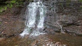 Cascata precipitante a cascata di Rusyliv della primavera stock footage