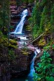 Cascata precipitante a cascata di Silverton Colorado di cadute dell'insenatura minerale del sud Immagini Stock Libere da Diritti