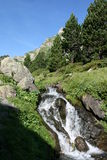 Cascata in Pyrenees Immagine Stock