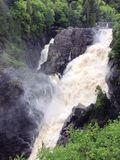 Cascata in Quebec fotografia stock