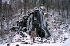 Cascata Radaufall nell'inverno Fotografie Stock Libere da Diritti