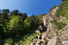 Cascata Regina del Lago - Adamello Trento Italia Immagini Stock Libere da Diritti