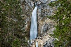 Cascata scenica di Martuljek nel parco nazionale di Triglav in Julian Alps in Slovenia Immagini Stock Libere da Diritti