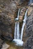 Cascata scenica di Martuljek nel parco nazionale di Triglav in Julian Alps in Slovenia Immagine Stock