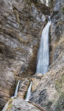 Cascata scenica di Martuljek nel parco nazionale di Triglav in Julian Alps in Slovenia Fotografie Stock