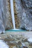 Cascata scenica di Martuljek nel parco nazionale di Triglav in Julian Alps in Slovenia Fotografia Stock