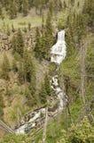 Cascata scenica in Yellowstone fotografie stock libere da diritti