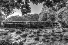 Cascata in Sharon Woods Park, Cincinnati, Ohio Fotografie Stock