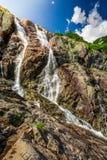 Cascata Siklawa nel Tatras Fotografia Stock Libera da Diritti