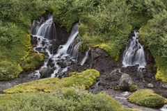 Cascata Skaftafell di Svartifoss immagine stock libera da diritti