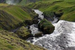 Cascata Skogafoss in Islanda immagine stock
