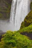 Cascata - SKogafoss - Islanda Fotografie Stock