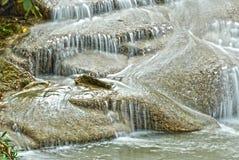 Cascata in sosta nazionale Kanchanaburi HDR fotografia stock libera da diritti