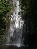 Cascata su Hana Highway Maui Hawaii Immagine Stock