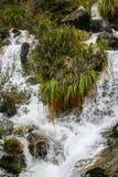 Cascata su Inca Trail sul modo a Machu Picchu, Perù Immagine Stock Libera da Diritti