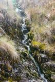 Cascata su Inca Trail sul modo a Machu Picchu, Perù Fotografia Stock Libera da Diritti
