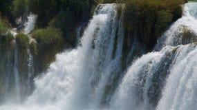 Cascata su un fiume Fotografia Stock Libera da Diritti