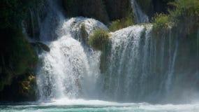 Cascata su un fiume Immagini Stock Libere da Diritti