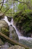 Cascata in Sugarloaf Ridge State Park, valle di Sonoma, California fotografia stock