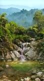 Cascata sul fiume della montagna Fotografia Stock Libera da Diritti
