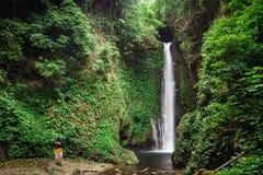 Cascata sull'isola di Bali Immagini Stock