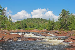 Cascata sullo schermo canadese Fotografia Stock