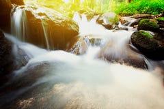 Cascata Sunlit Fotografia Stock