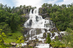 Cascata Tvindefossen, Norvegia Fotografie Stock