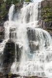 Cascata Tvindefossen, Norvegia Fotografie Stock Libere da Diritti