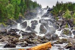 Cascata Uchar Repubblica di Altai La Russia Immagini Stock