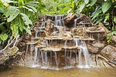 Cascata in una foresta pluviale di Costa Rica Fotografia Stock