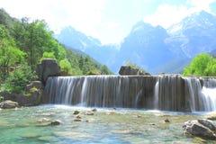Cascata in valle della luna blu, Lijiang, Cina Immagine Stock Libera da Diritti