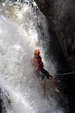 Cascata Vietnam rispettabile di canyoning Fotografie Stock