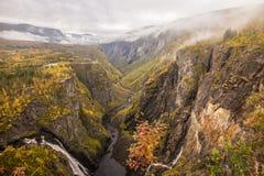 Cascata Voringfossen in Norvegia Fotografie Stock Libere da Diritti