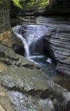 Cascata, Watkins Glen State Park, New York Fotografie Stock