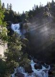 Cascata in Yosemite Immagini Stock