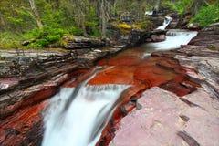 Cascatas do parque nacional de geleira fotos de stock royalty free