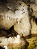 Cascatas famosas da atração da caverna de Demanovska fotos de stock