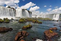 Cascate Argentina Brasile di Iguassu Fotografia Stock Libera da Diritti