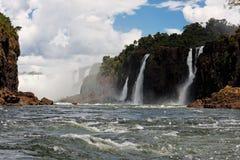 Cascate Argentina Brasile di Iguassu fotografia stock